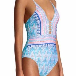 La Blanca Milano Plunge One Piece Swimsuit
